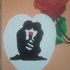 Liebe, Rose, Herz, Malerei