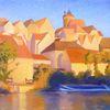 Besigheim, Landschaft malerei, Altstadt, Modern