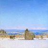 Schnee, Ölmalerei, Winter, Natur