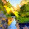 Wald, Natur, Spiegelung, Impressionismus