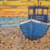 Boot, Sonnenuntergang, Strand, Sand
