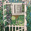 Grün, Rosenbogen, Pavillon, Garten