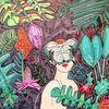 Frau, Urwald, Licht und schatten, Schmetterling