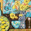 Zitrone, Gelb, Glas, Blumen