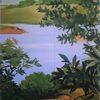 Natur, Landschaft, Malerei marcel heinze, Malerei