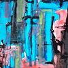 Linie, Blau, Rot, Malerei