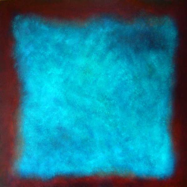 Farbfeldmalerei, Malerei, Farbfeld malerei, Rot, Hellblau