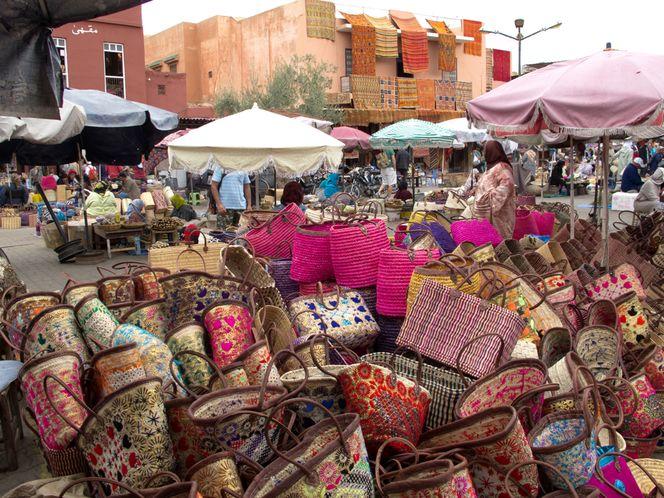 Korb, Marrakesch, Markt, Tasche, Marokko, Fotografie