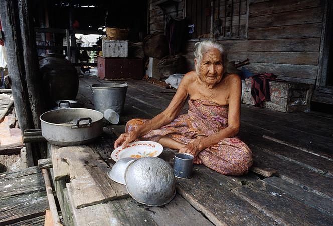 Thailand, Frau, Alt, Hütte, Fotografie, Reiseimpressionen