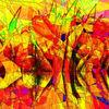 Scherbe, Reflektionen, Farben, Spiegelglas