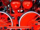 Lokomotivräder, Fotografie, Rot