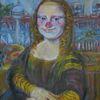 Berlin, Gemälde, Clown, Mona lisa