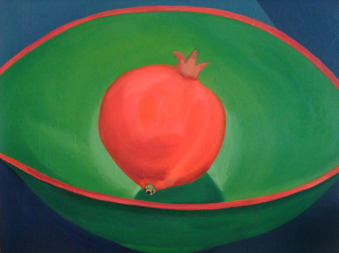 Malerei, Stillleben, Granatapfel