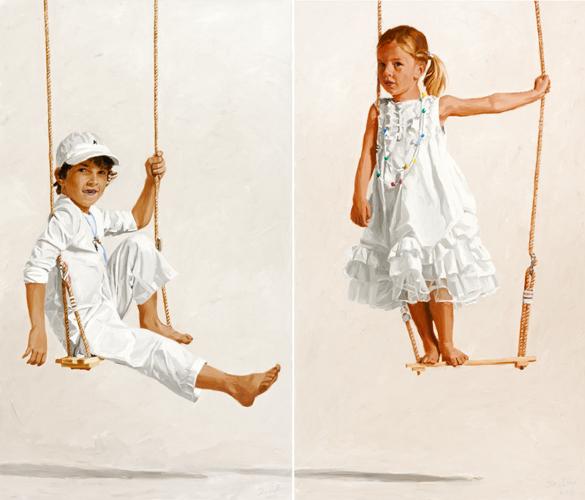 Kinderportraits, Porträtmalerei, Kinder, Portrait, Gemälde, Ölmalerei