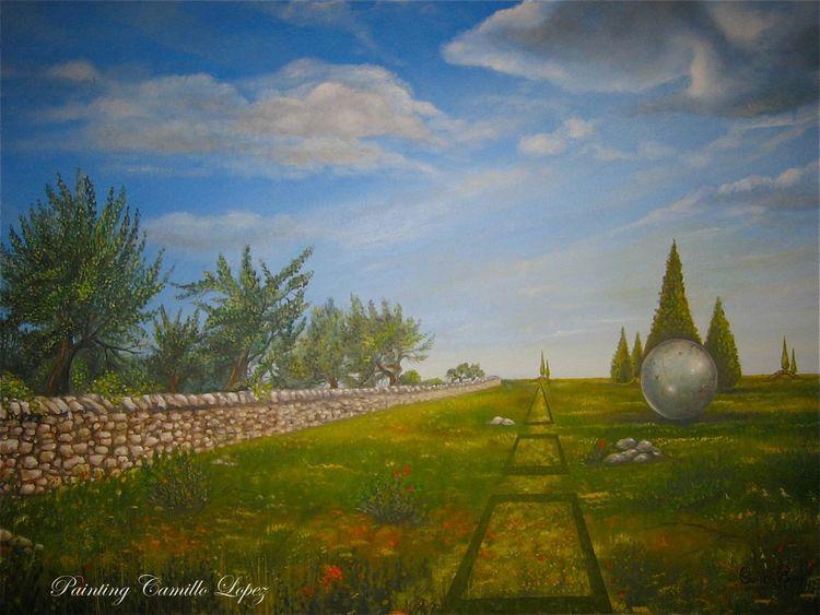 Italienisch, Surrealistisch, Gravina, Surreale landschaft, Puglia, Malerei