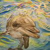 Delfin, Wasser, Malerei