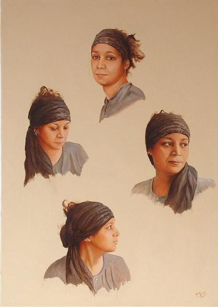 Portrait, Malerei, Afrika, Arabe, Malen, Moderne kunst