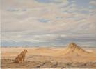 Gegenwartskunst, Löwe, Landschaft, Orientalismus