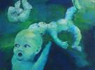 Wasser, Baby, Malerei