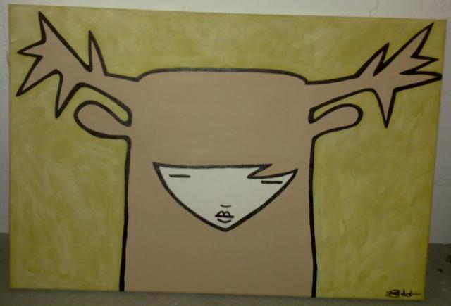 Acrylmalerei, Malerei, Hirsch