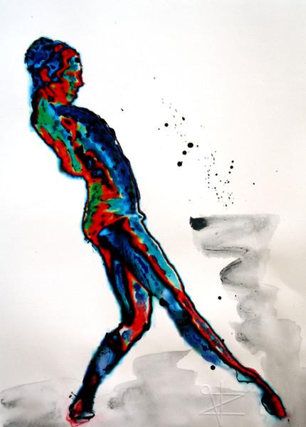 Zurückschrecken, Caravaggio, Ballett, Malerei, Figural, Angst