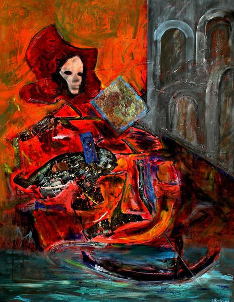 Malerei, Venedig, Abstrakt, Karneval