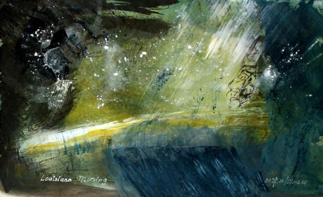 Abstrakt, Mischtechnik, Acrylmalerei, Nasstechnik, Malerei, Surreal