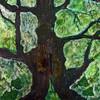 Malerei, Abstrakt, Acrylmalerei, Baum