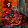 Venedig, Abstrakt, Malerei, Karneval