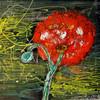 Abstrakt, Acrylmalerei, Malerei, Rose