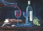 Korkenzieher, Brot, Wein, Glas