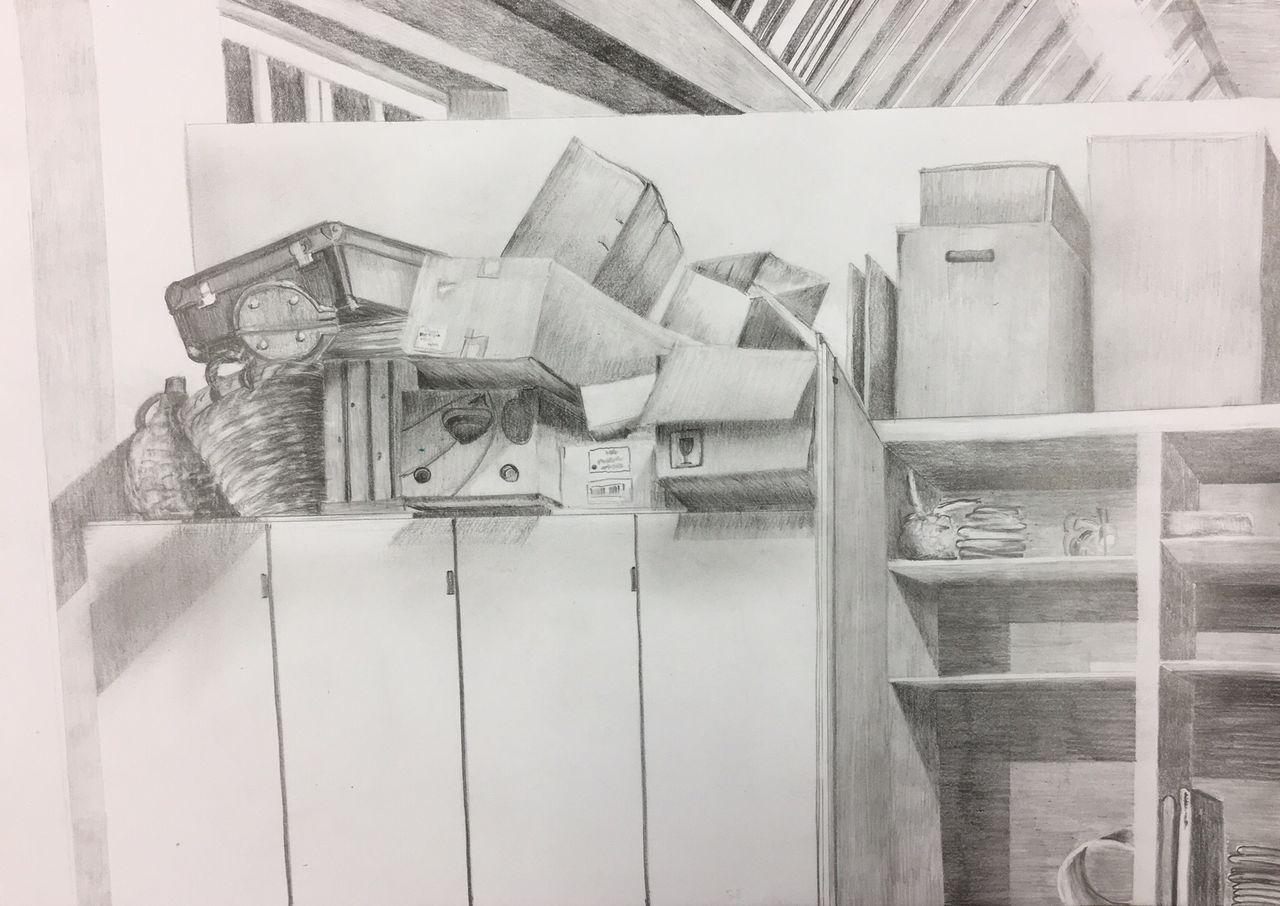 Bild kiste schachtel zeichnung schrank von sabine bei for Schrank zeichnung