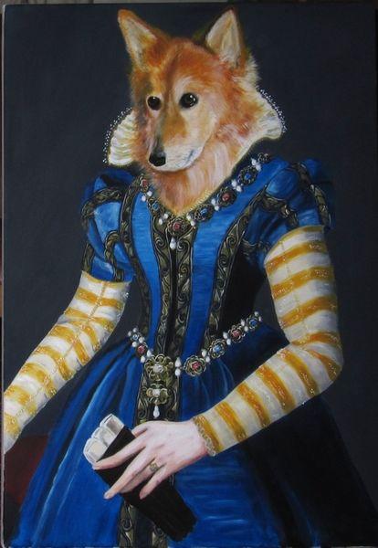 Portrait, Hundeportrait, Hund, Tiere, Malerei