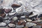 Stein, Fotorealismus, Wasser, Malerei