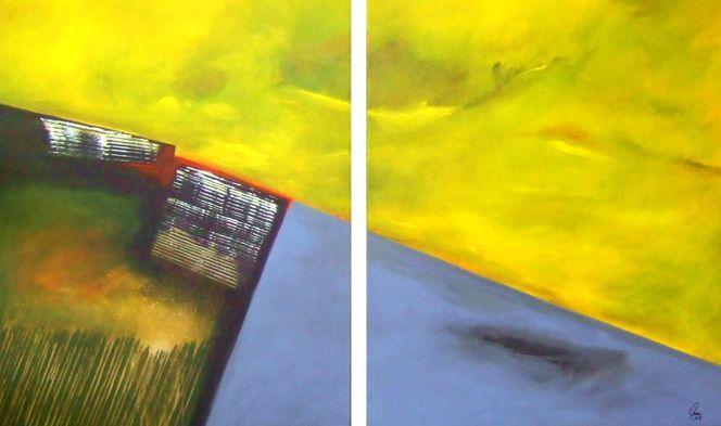 Heiter bis wolkig, Polaritäten, Bedingung, Neubeginn, Orientierung, Malerei