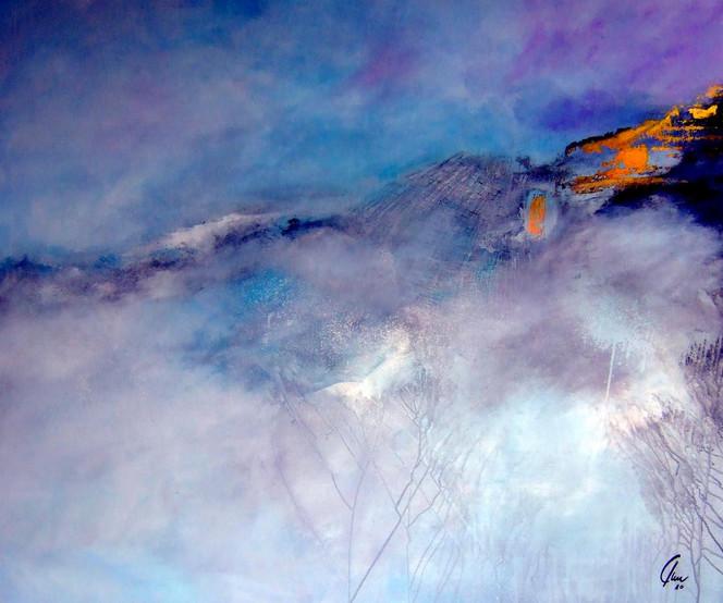 Zerstörung, Natur, Erderwärmung, Umwelt, Verletzung, Malerei