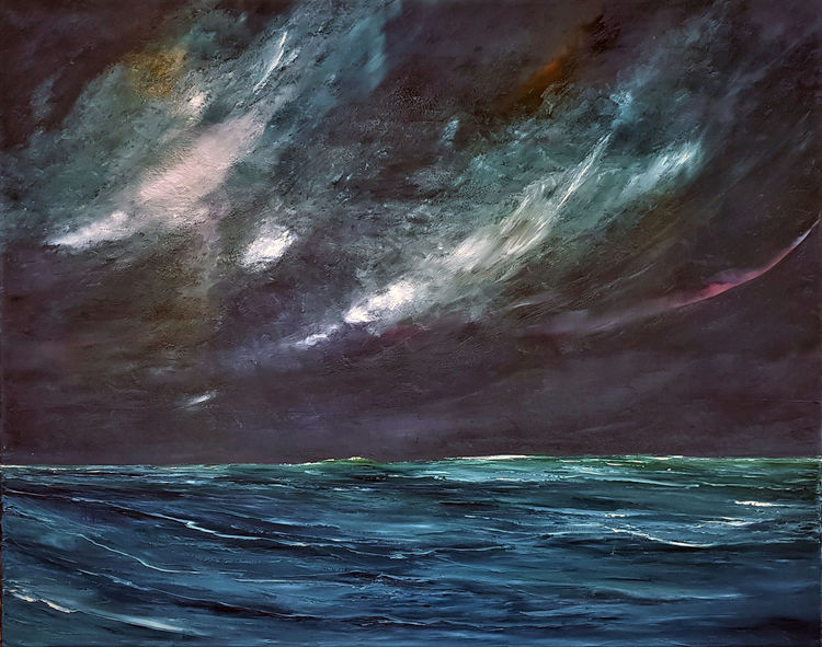 Himmel, Farben, Meer, Sturm, Wind, Biskaya