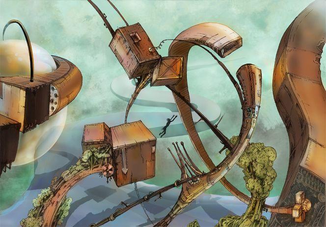 Cyberpunk, Fiktion, Andere welt, Der sprung, Zukunft, Surreal