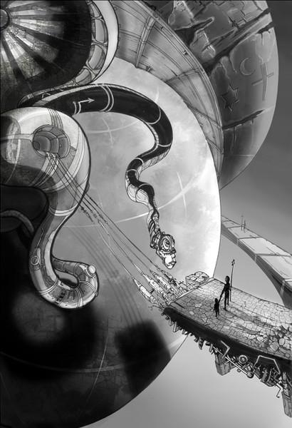 Turm, Cyberpunk, Religion, Zukunft, Fiktion, Roboter