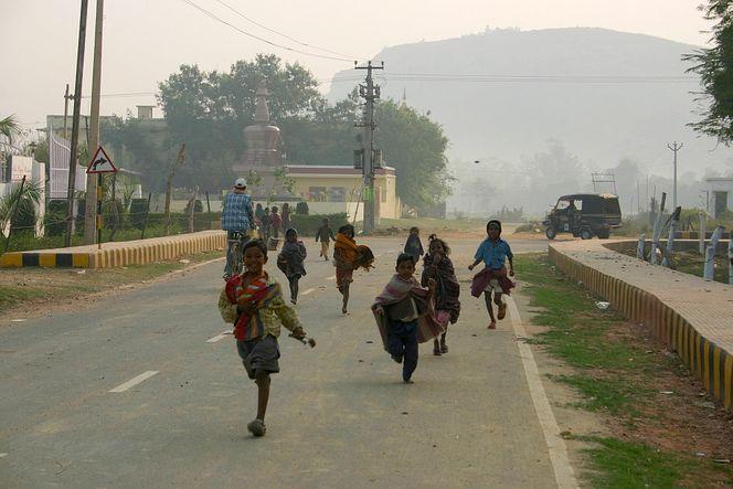 Bodhgaya, Kinder, Indien, Fotografie
