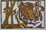 Linolschnitt, Artstieler, Linoprint, Tiger