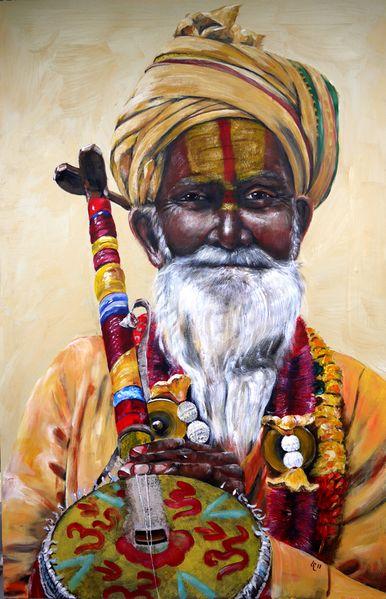 Instrument, Sadu, Shiva, Indien, Orcha, Orange