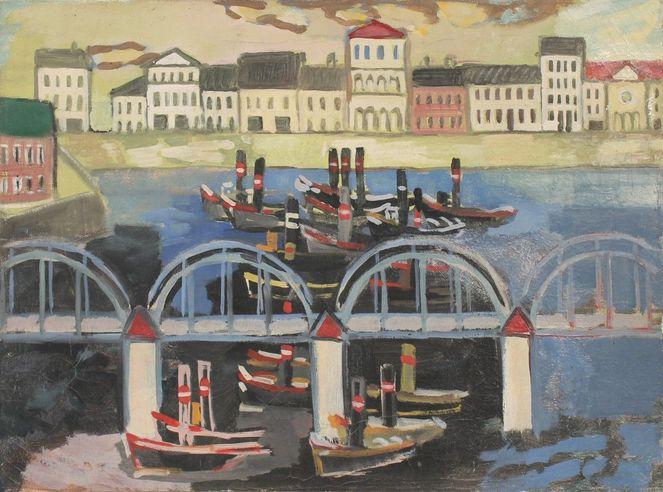 1948, Impressionismus, Expressionismus, Schiff, Malerei, Gemälde
