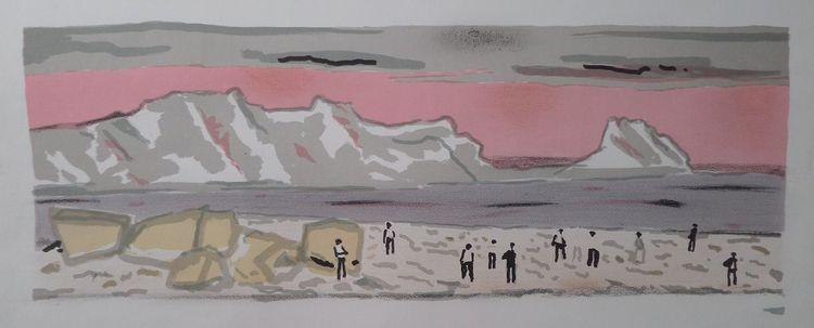 Landschaft, Entartete kunst, Malerei, Meer, Menschen, Druckgrafik