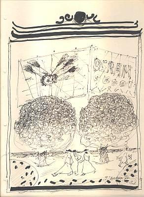 1972, Osram, Zeichnung, Pfaffe, Mutter ey, Gemälde