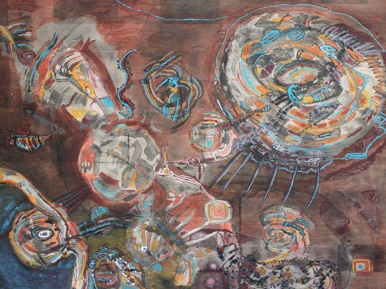 Acrylmalerei, Holz, Abstrakt, Malerei, Malerei ii, Liegen