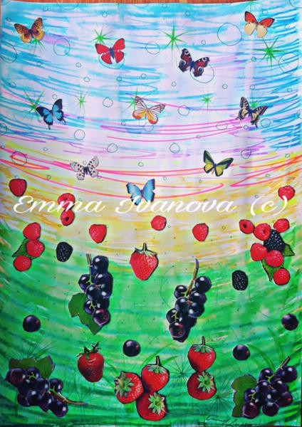 Schmetterling, Blueberry, Fliegen, Outdoor, Himmel, Colllage
