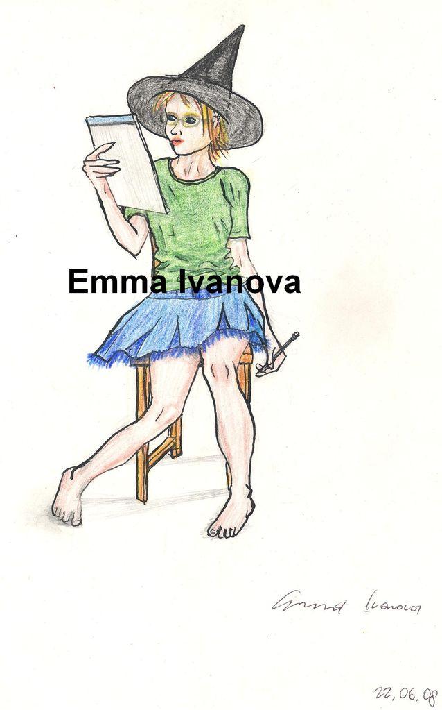 Gekrizel Hexe Jeansrock Zauber Zeichnen Von Emma Bei Kunstnet