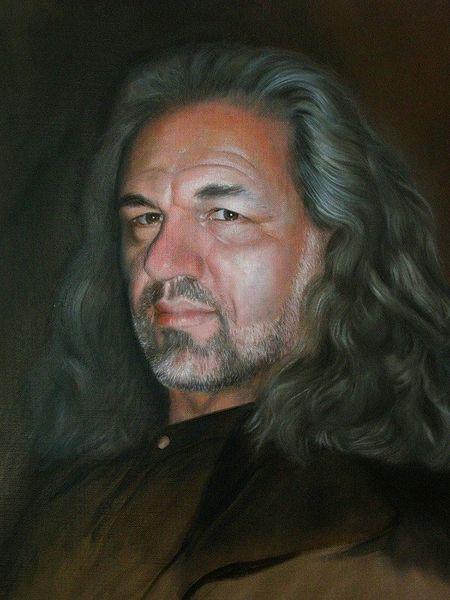 Portrait, Mann, Malerei