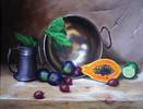 Südfrüchte, Früchte, Krug, Obst